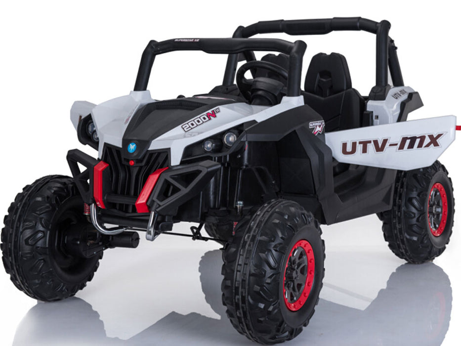 Mini Moto UTV 4x4 12v (2.4ghz RC) White l Watt Fleet