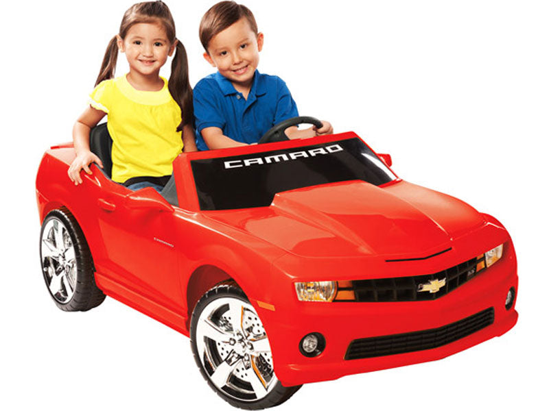 NPL Chevrolet Racing Camaro 12v Electric Ride-on Toy Red two seater l Watt Fleet