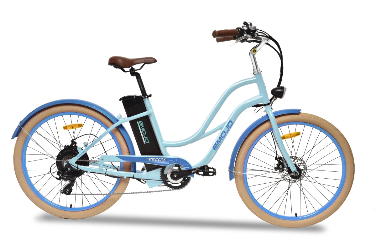 Emojo Breeze Beach Cruiser eBike Blue l Watt Fleet