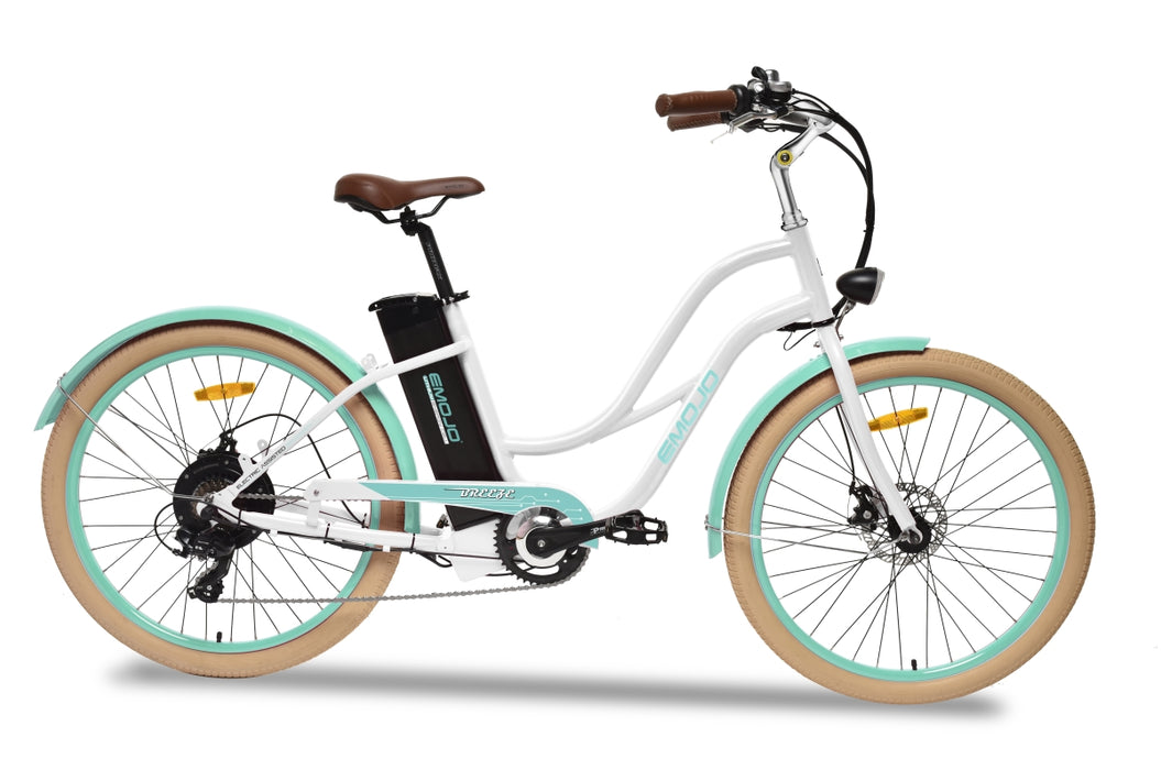 Emojo Breeze Beach Cruiser eBike White l Watt Fleet