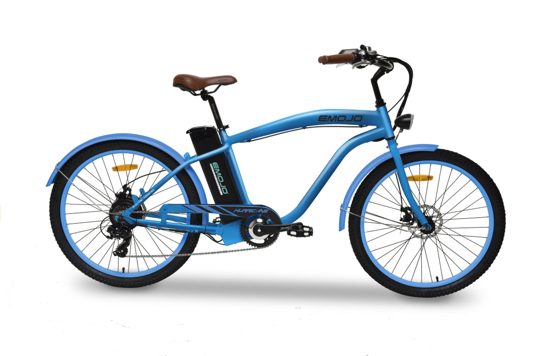 Emojo Hurricane Beach Cruiser eBike Blue l Watt Fleet