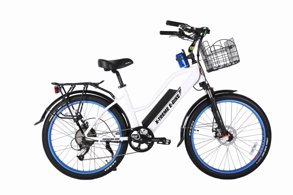 X-Treme Catalina Cruiser eBike White l Watt Fleet