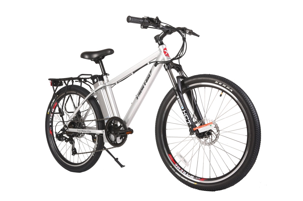 X-Treme Trail Maker Elite eBike Silver l Watt Fleet