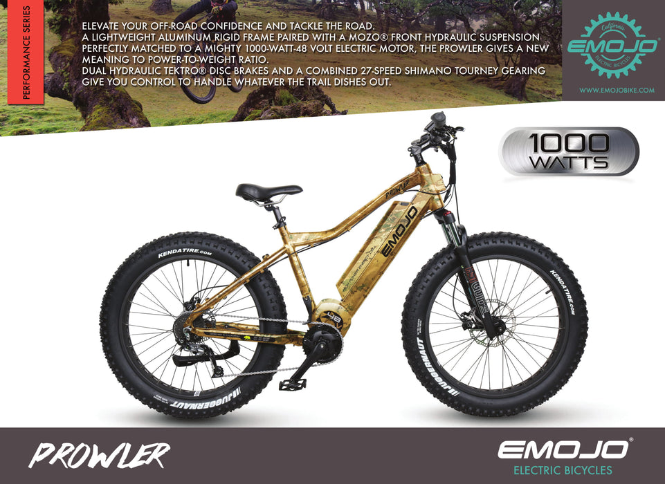 Emojo Prowler Suspension eBike Description l Watt Fleet