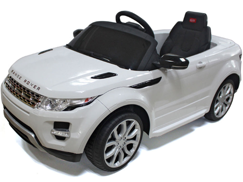 Rastar Land Rover Evoque 12v Kids eRide-on Toy White l Watt Fleet