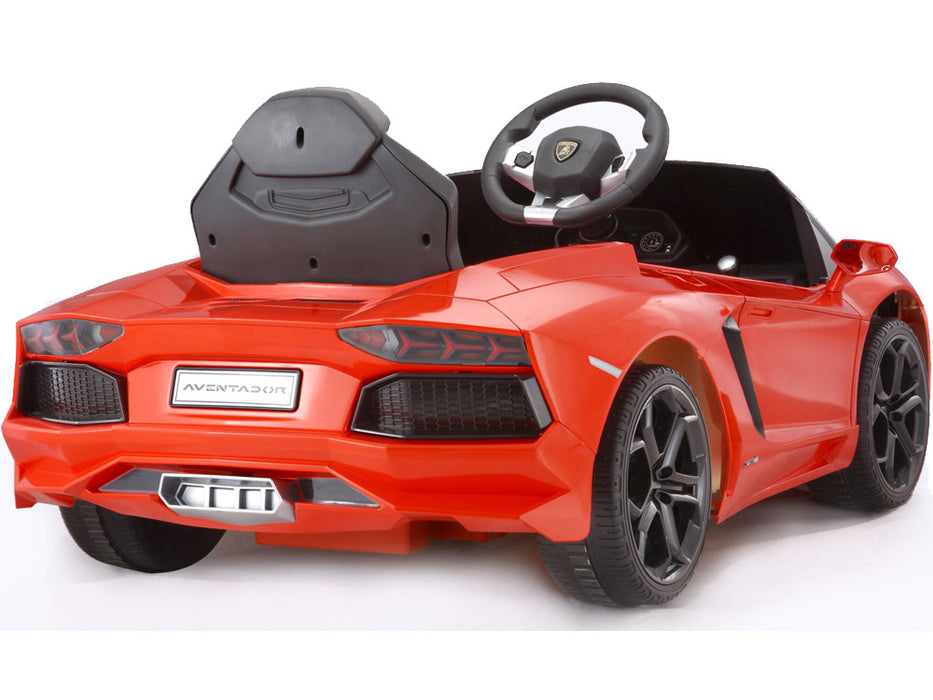 Rastar Lamborghini Aventador LP700-4 6v Kids eRide-on Toy Orange l Watt Fleet