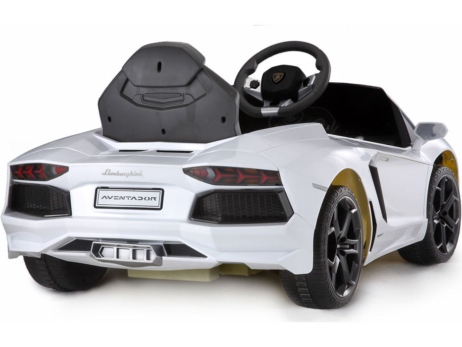 Rastar Lamborghini Aventador LP700-4 6v Kids eRide-on Toy White l Watt Fleet