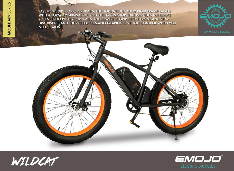 Emojo Wildcat Fat Tire eBike Description l Watt Fleet