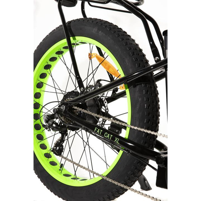 Big Cat Fat Cat XL 500w 48V rear tireGreen Fat Tire eBike l Watt Fleet