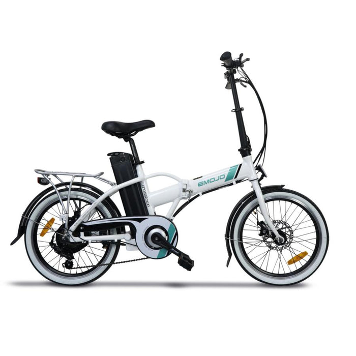 Emojo Crosstown Folding eBike White l Watt Fleet