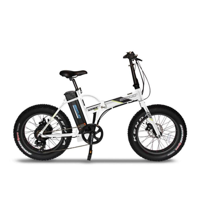 Emojo Lynx PRO Folding Fat Tire eBike White l Watt Fleet