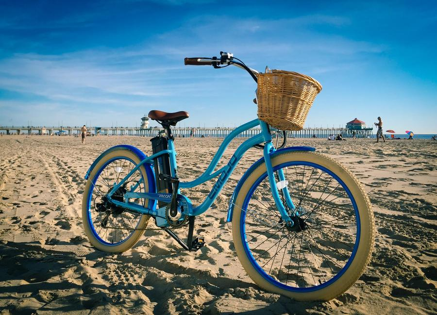 Emojo Breeze Beach Cruiser eBike Beach l Watt Fleet