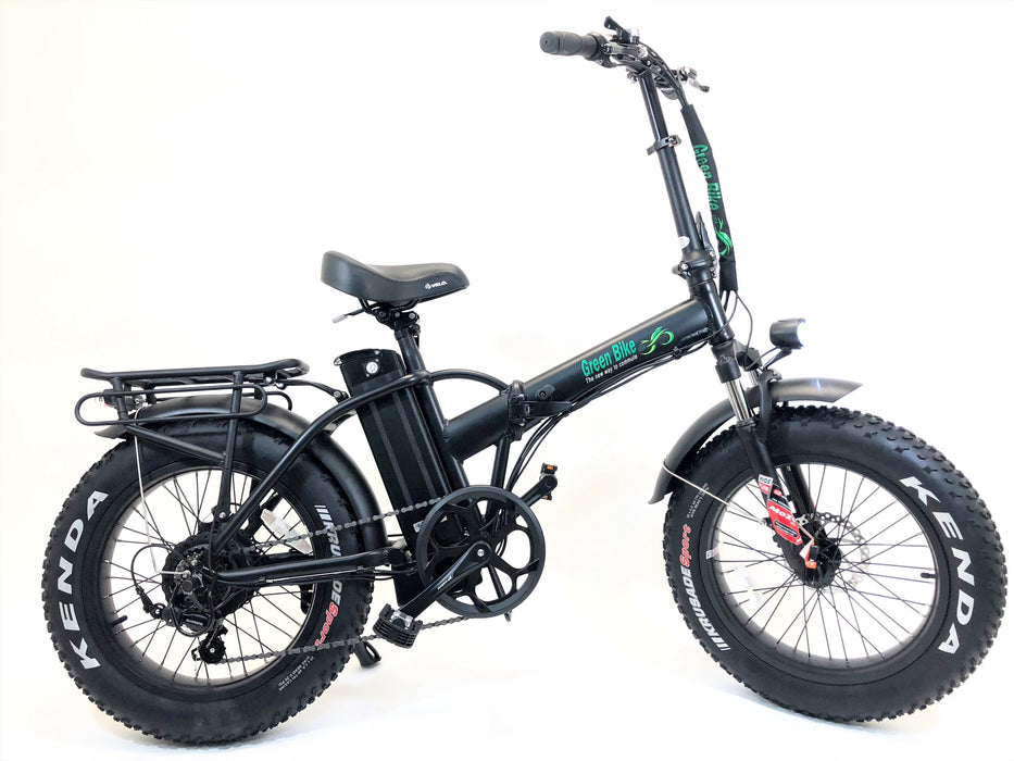 Green Bike USA GB1 Fat Tire eBike Black l Watt Fleet