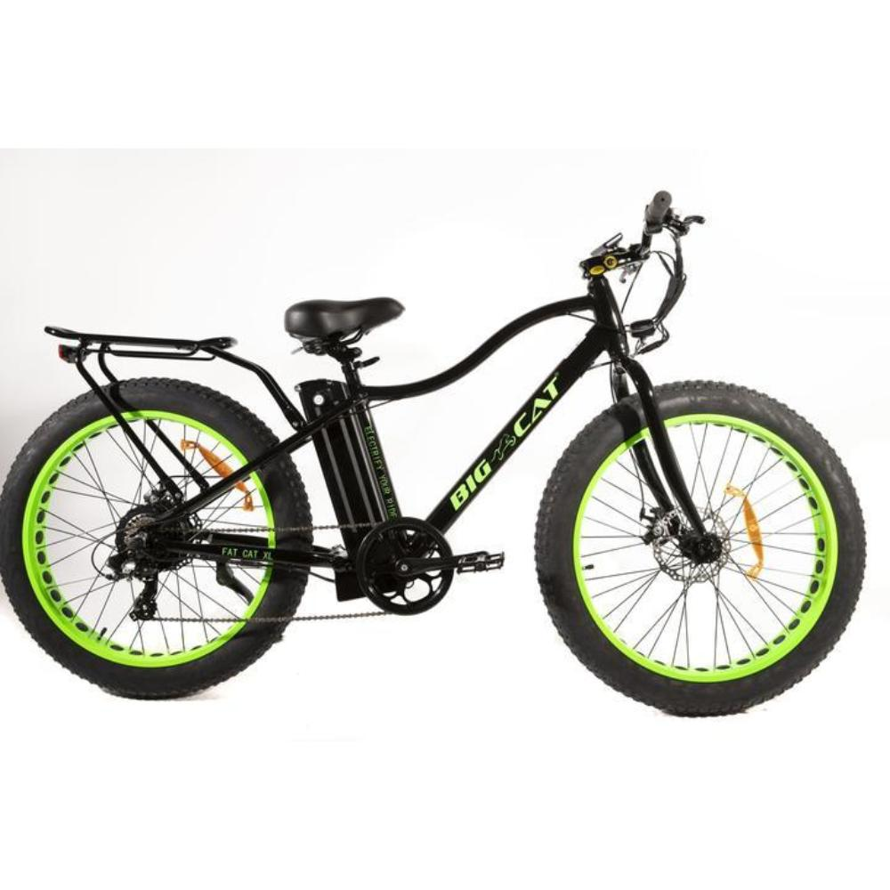 Big Cat Fat Cat XL 500w 48V Green Fat Tire eBike l Watt Fleet