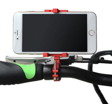 Addmotor Aluminum eBike Phone Holder Mount Red l Watt Fleet