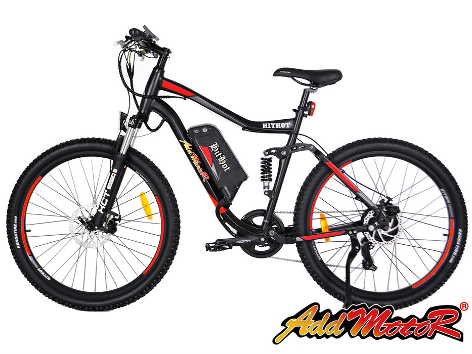 Addmotor HitHot H1 Electric Mountain Bike Orange l Watt Fleet