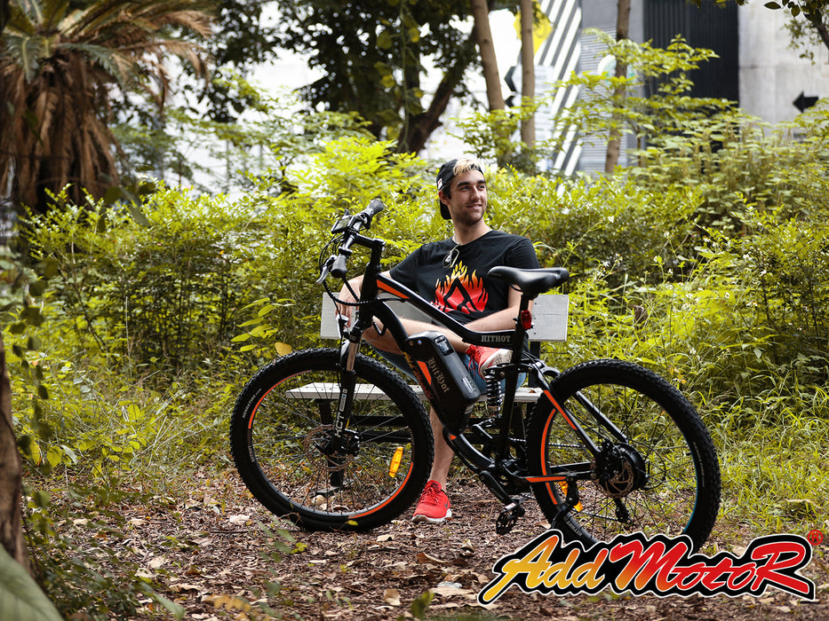 Addmotor HitHot H1 Electric Mountain Bike Action l Watt Fleet