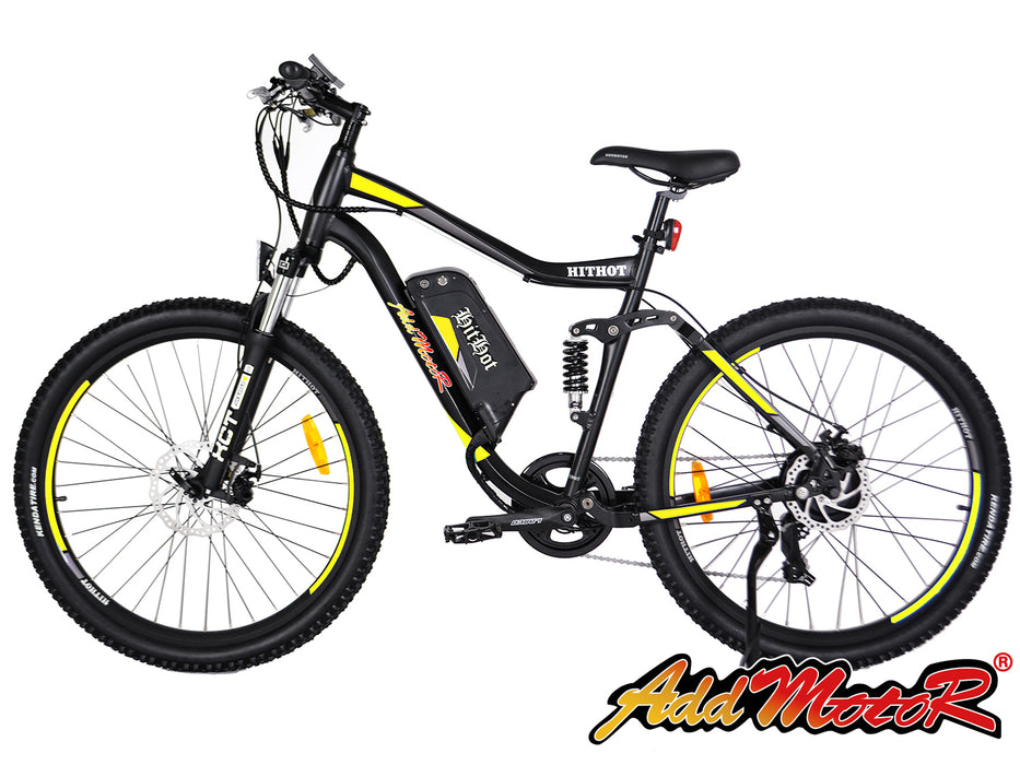 Addmotor HitHot H1 Electric Mountain Bike Yellow l Watt Fleet