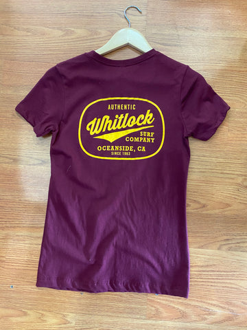 Maroon/Yellow Womens Authentic Tee