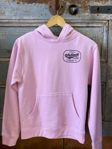 Whitlock Youth Pullover Hoody Lt Pink/Authentic Logo Black