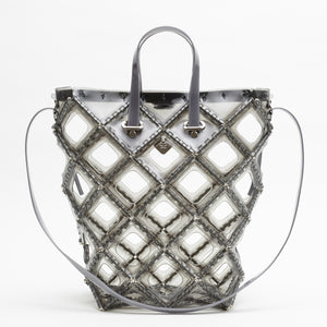 X FRAME BUCKET TOTE(Light gray)