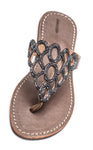 Leather Beaded Sandal - Lattice