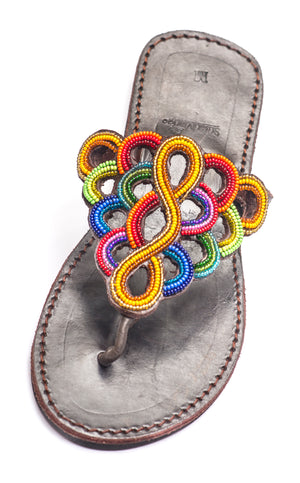 Leather Beaded Sandal - Kenya