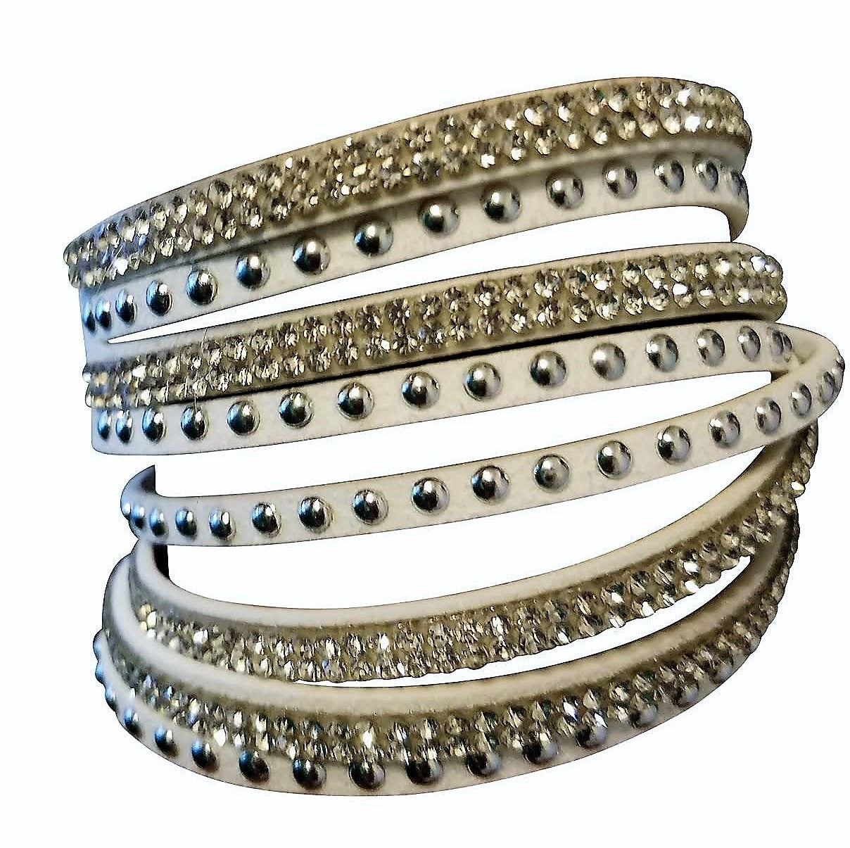 Sparkle Wrap Bracelet - White