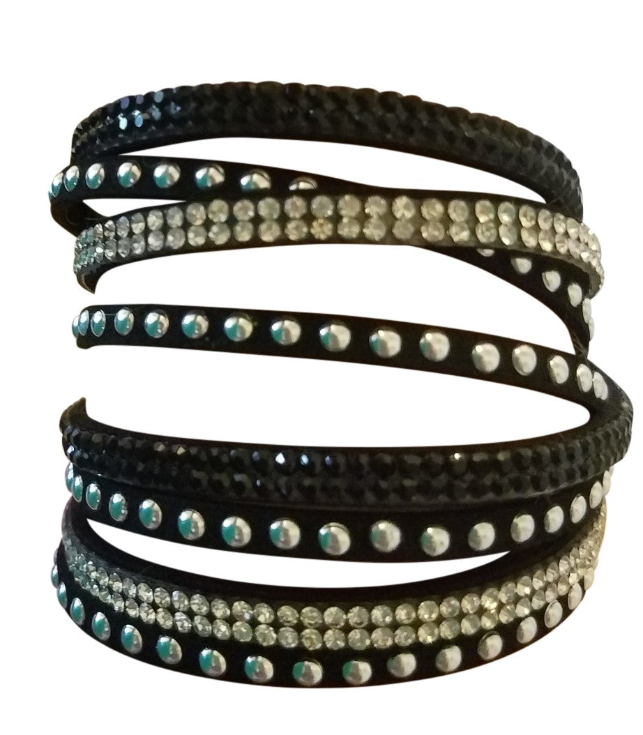 Sparkle Wrap Bracelet - Black