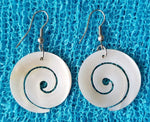 Swirl Carved Shell Earrings