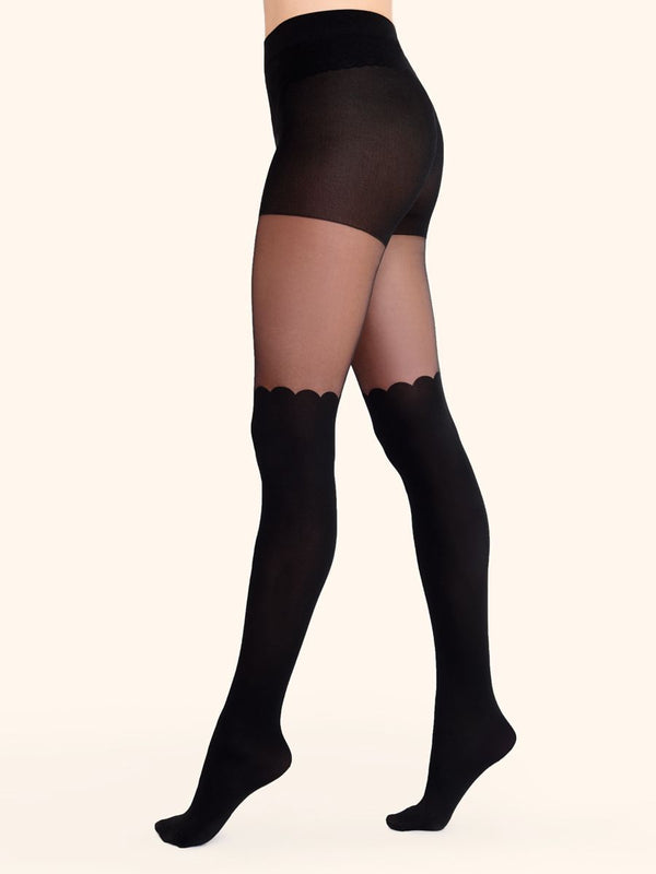 Scalloped Over-the-Knee Tights - Jolie Bra and Lingerie Boutique