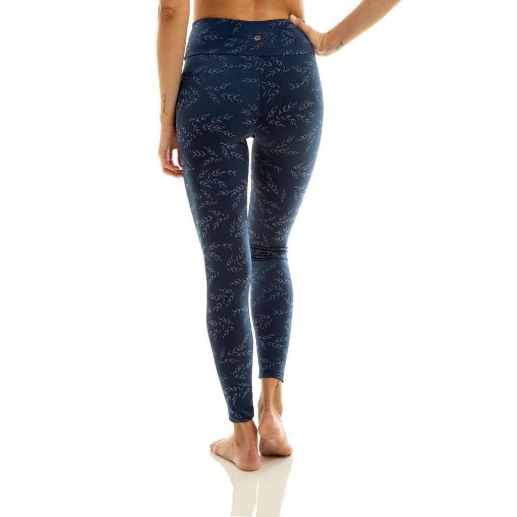 Legging In The Waves Navy