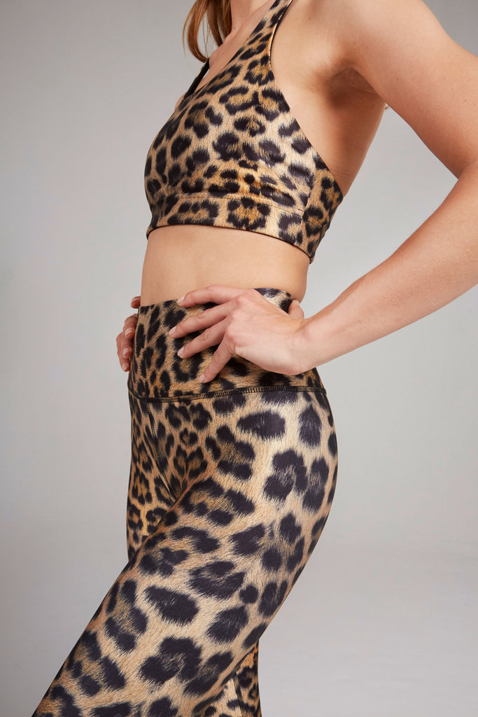 Leopard Goals Super-High Band Leggings