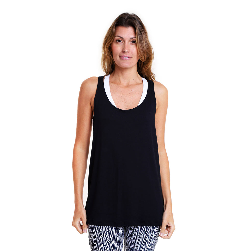 Polera Yoga Twist Tank Black