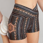 Short Zephyr Crossover High-Waisted