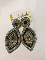 Steele Beaded Rhinestone Earring