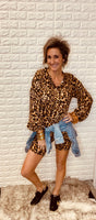 Leopard Biker Shorts Set