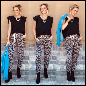 Hairy Leopard Joggers