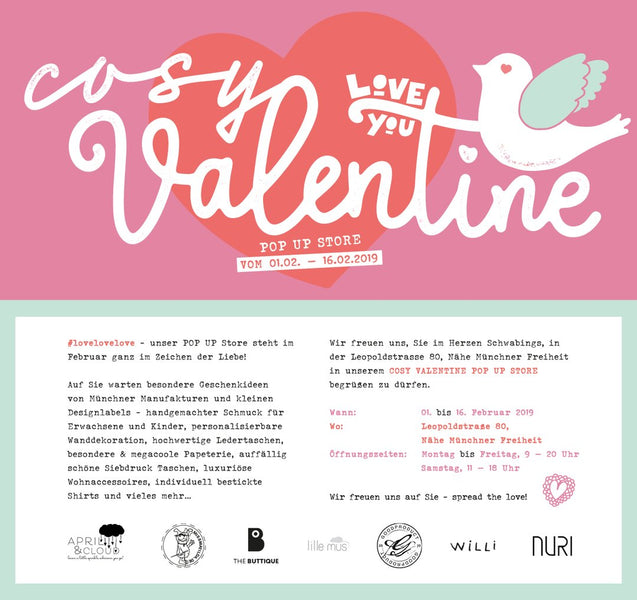 "POP UP Store ""COZY VALENTINE"" in München - mit NURI Handyketten"