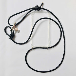 "Handykette Leder ""Midnight Black"" - Silver Edition - NURI"