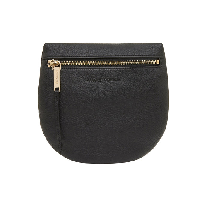 Macy Zip Clutch - Black