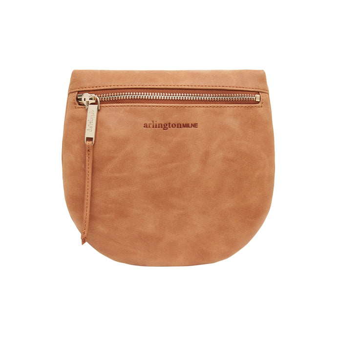Macy Zip Clutch - Vintage Tan