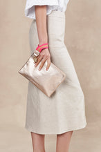 Load image into Gallery viewer, Paige Clutch w/Wristlet - Rose Gold