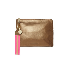 Load image into Gallery viewer, Paige Clutch w/Wristlet -  Bronze