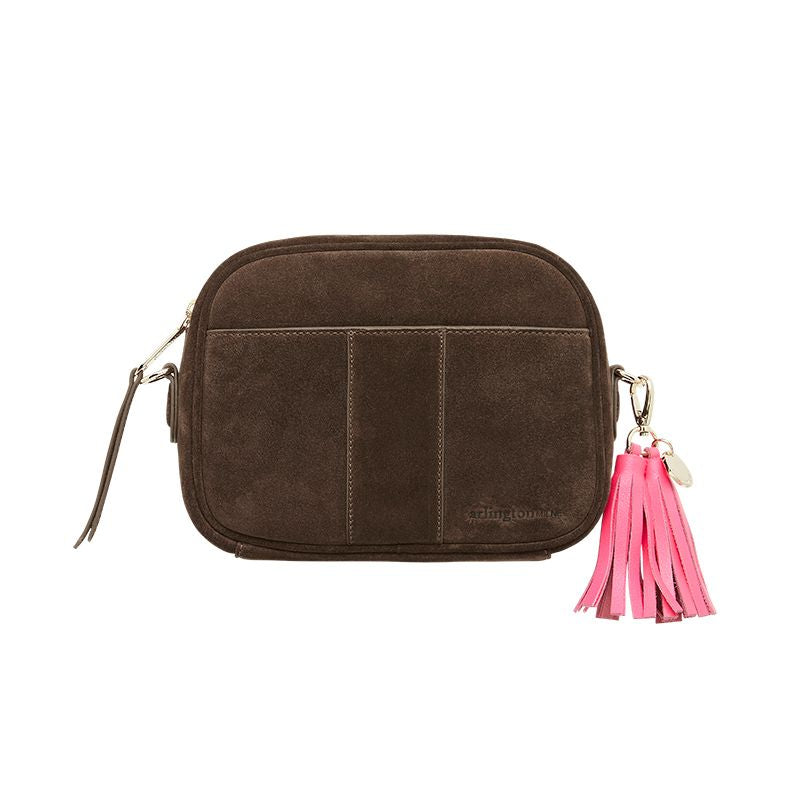 Zara Camera Bag - Khaki Suede