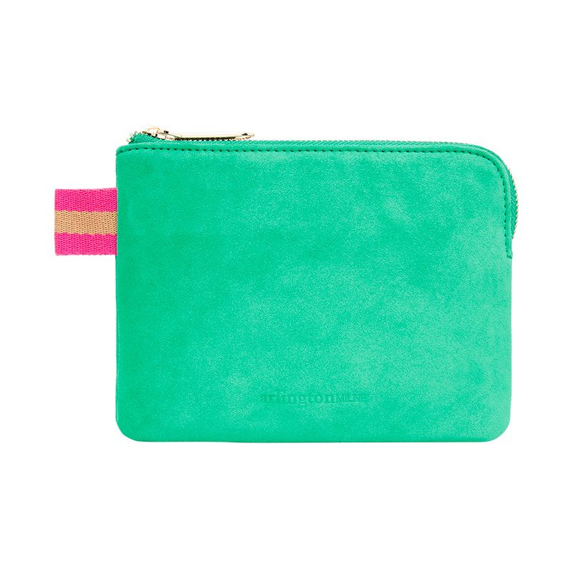 Paige Coin Purse - Emerald Suede