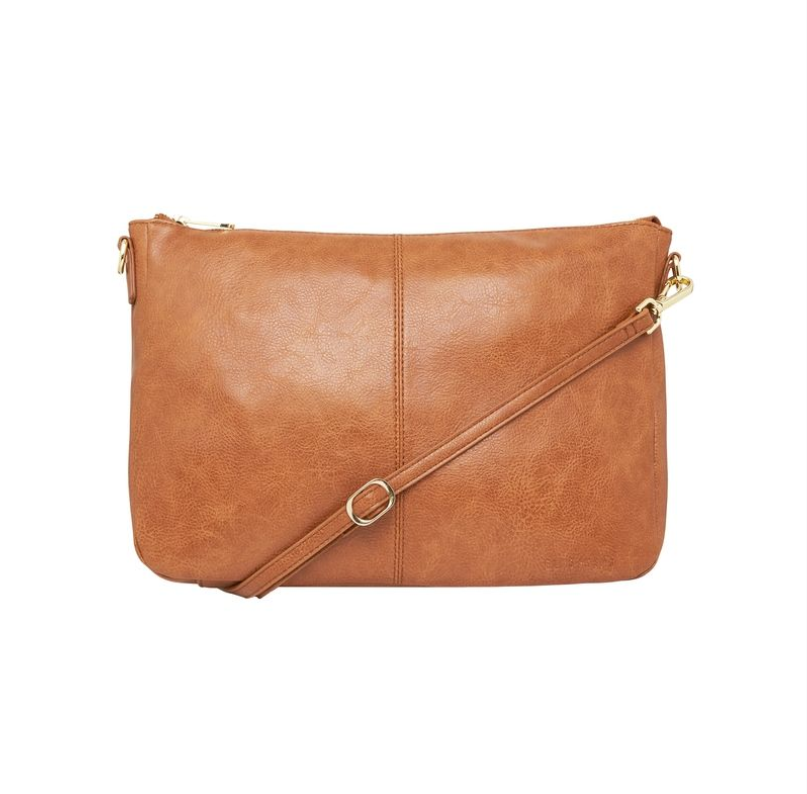 Bowery Shoulder Bag - Tan Pebble