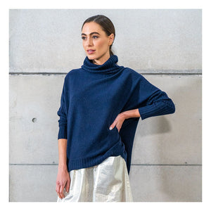 Sinead Roll Neck - Navy
