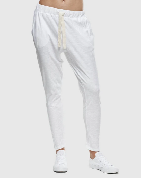Slub Lounge Pant / White