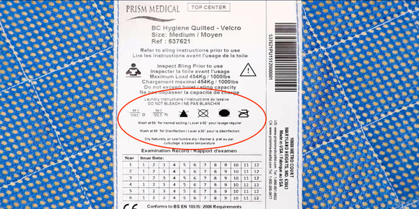 Patient sling washing instructions – Cleaning and Disinfecting Medical Products | VIVA Mobility
